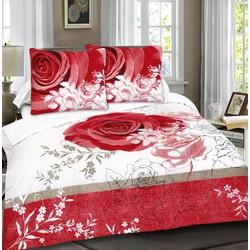 Dekbedovertrek Your Red Rose Maat: Lits-jumeaux (240 x 220 cm + 2 kussenslopen)