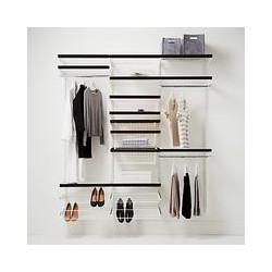 Elfa 1812mm White / Walnut Wardrobe Set 15