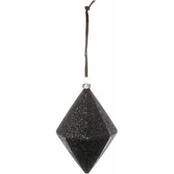 Kerstbal Pretty zwart 12cm