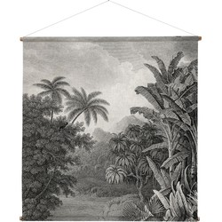 HKliving Wandkleed XXL Jungle 154 x 154 x 2