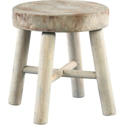 PTMD PTMD Log Wood Round Stool