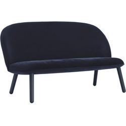 Normann Copenhagen Ace Straight sofa - 2 seats - L 145 cm - Velvet. Dark blue
