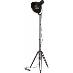 BePureHome Vloerlamp Spotlight - Metaal - Zwart
