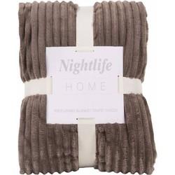 Nightlife - Plaid - Rib - Lycra / elastaan - Bruin
