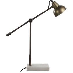 Casa Vivante vita bureaulamp donkergoud maat: 60 x 12,5 x 58cm
