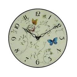Lascelles Butterfly Floral Wall Clock, Dia.36cm