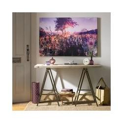 Graham & Brown Purple Landscape Canvas, Brown