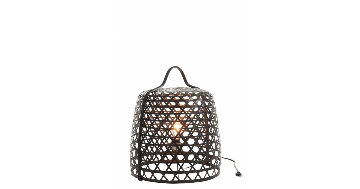 Bamboo light - Vloerlamp - cilinder - bamboe - zwart