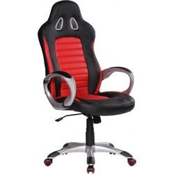 24Designs Racer2 Bureaustoel & Gamestoel - Kunstleer - Zwart/Rood