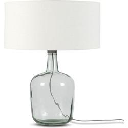Tafellamp Murano 4723 linnen wit, L
