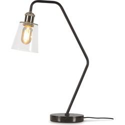 Tafellamp glas/marmer Paris, zwart