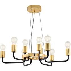Eglo Paltas Hanglamp 9-lichts Zwart Goud - 70 cm