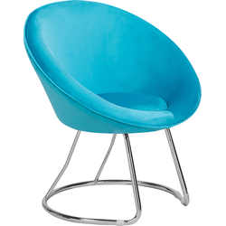 Fauteuil fluweel turquoise FLOBY