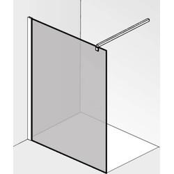 Saqu miralo Glaswand voor montageset 100x210 cm Grijs Glas