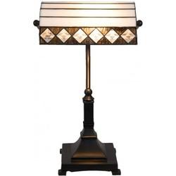Clayre & Eef Bureaulamp Tiffany 26x20x43 cm / E27 / Max. 1x60 Watt