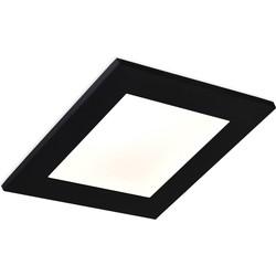 Ben Sketch inbouwspot LED 11x11x2 cm Zwart