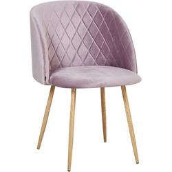 Marko stoel - lila roze velours - set van 2
