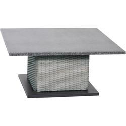 Supper Club verstelbare tafel Soho Brick 90x90cm