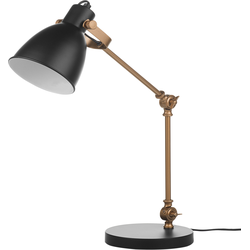 Bureaulamp zwart 73 cm CLARENCE