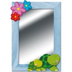 Spiegel Schildpadden Hout  - Weizenkorn