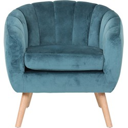 Fauteuil Lino - Blauw - Velvet