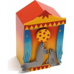 Muziekdoos 3D Circus Zeeleeuwen Hout  - Weizenkorn
