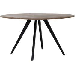 Light&Living Eettafel  MIMOSO hout zwart 78 x Ø120
