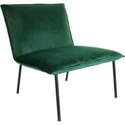 Kick fauteuil Velvet Lola - Groen