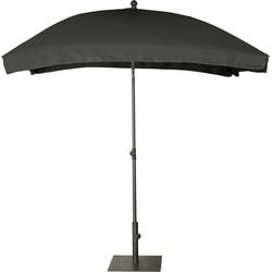 Platinum parasol Aruba 200x130 volant - zwart