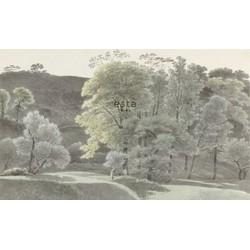 ESTAhome fotobehang bosrijk landschap mintgroen