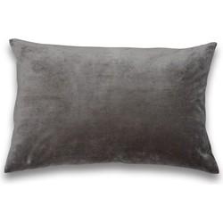 Kussen fluweel dark grey
