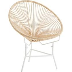 Madam Stoltz fauteuil jute naturel 77 x 71 x 86