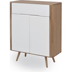 Ena Dresser 1 - Houten ladekast - Whitewash - 90 cm