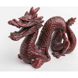 Fine Asianliving Chinese Draak Klein Donkerrood