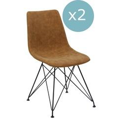Breazz - Set van 2 Scandi stoelen Sand