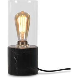Tafellamp glas/marmer Athens, zwart