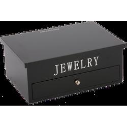 Juwelen doos groot Avantgarde zwart met zilveren letters