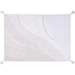 Cotton Shades Wit   Vloerkleed 140 x 200 cm