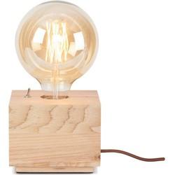 Its About RoMi tafellamp hout kubus S naturel