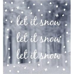 Delight Department  Raamsticker 'Let it Snow'