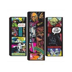 Graham & Brown Star Wars Split Comic Collage Set of 3 Canvas