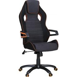 24Designs VRacer Bureaustoel & Gamestoel Oranje - Stof - Zwart/Grijs