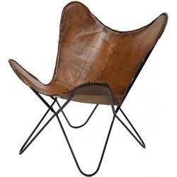 Vlinderstoel leer