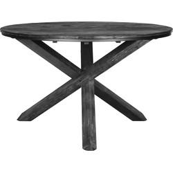 D-Bodhi Tuareg Black Ronde Eettafel Ø160x78cm - Gerecycled Teakhout Zwart