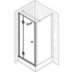 Ben Premium Alfonso Zijwand 90x200 cm aluminium / helder glas