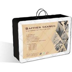 Saffier Percal Katoen 4-Seizoenen Dekbed Maat: 140x220 cm