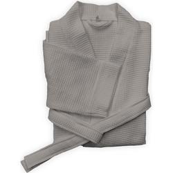 Badjas Wafel lang taupe grey - 100% Katoen