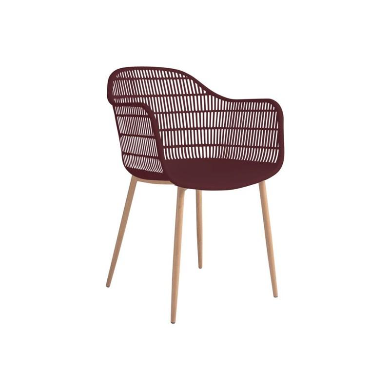 Tamy - Set van 2 stoelen - Bordeaux -