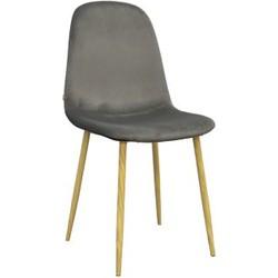 Stockholm stoel - velvet antraciet - set van 4