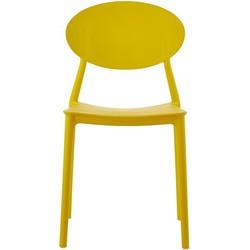 Mega stoel - geel - set van 4